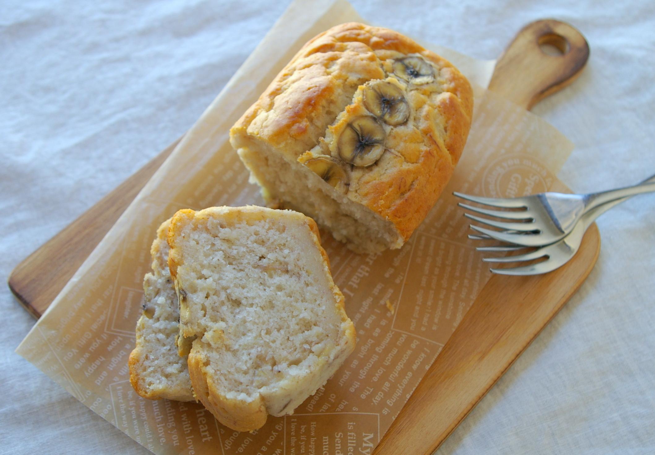 【卵・牛乳・小麦不使用】焼くまで5分!時短簡単♪バナナの米粉バウンドケーキ(基本) - アレルギーっ子も安心♪Kae's毎日ごはん [公式連載][レシピブログ]