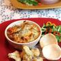 焼きチーズカレー、カリフラワーのスパイス揚げ