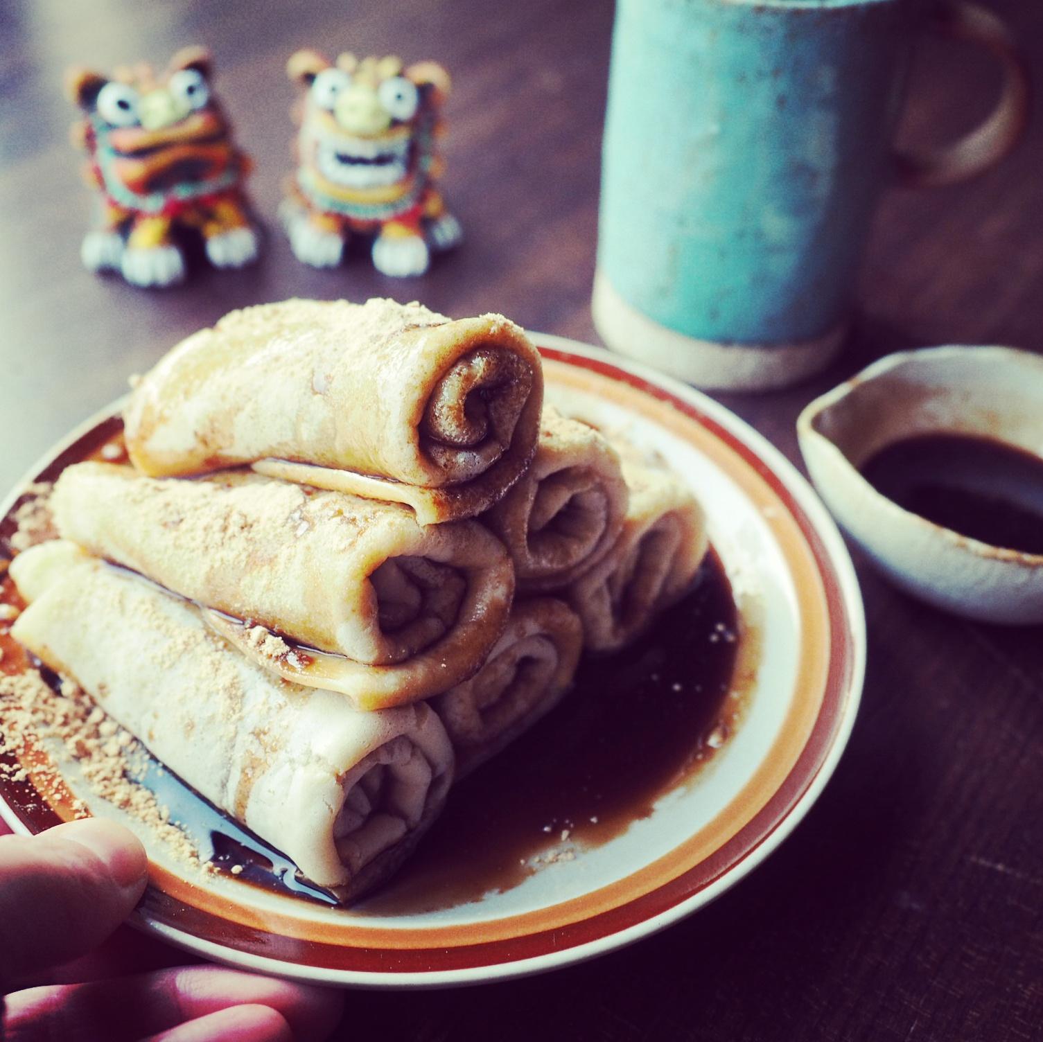 もっちもち〜♪フライパンで簡単和風黒糖クレープ♪ , しゃなママの♪子供も喜ぶ簡単おやつ♪ レシピブログ , 料理ブログのレシピ満載!