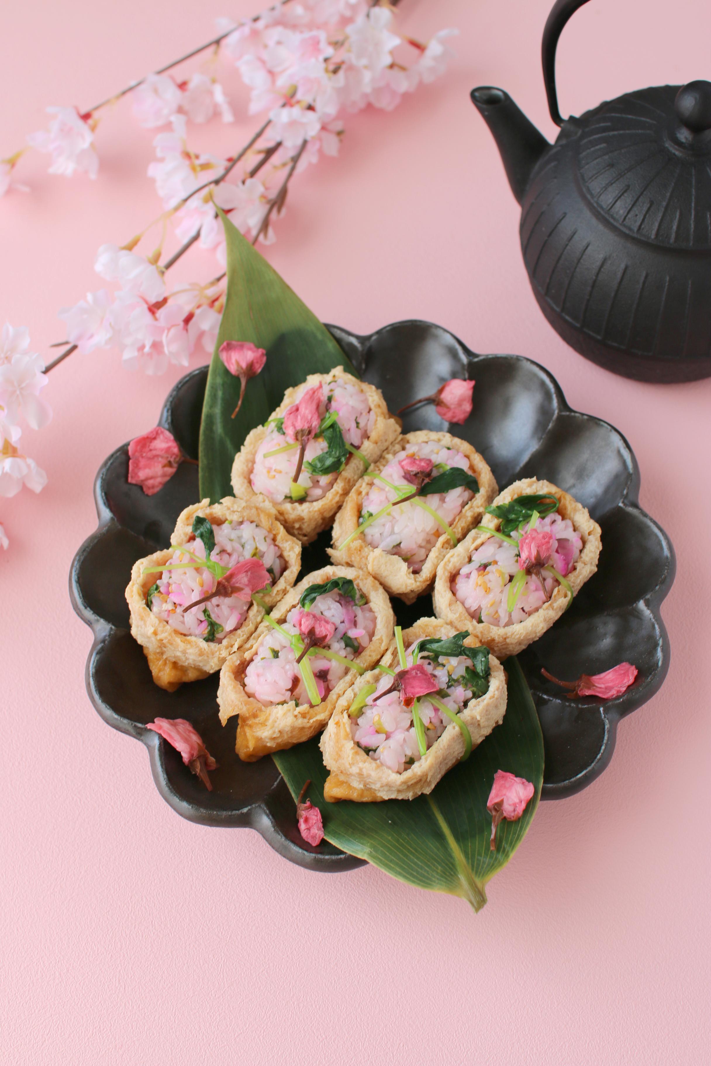 お花見に♪簡単!桜いなり寿司 , おうちで楽しむ♪vivianの手づくりおかずと手仕事 レシピブログ , 料理ブログのレシピ満載!
