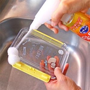 スポンジフリー!キュキュットCLEAR泡スプレー☆洗いにくいキッチンツールがラクラクキレイ!