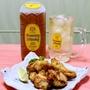 「さくっとジューシー鶏むね肉の塩麹天ぷら」&角ハイの美味しい作り方