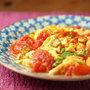 トマトとオクラの卵炒め