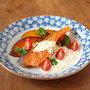 鮭とかぼちゃのジンジャーヨーグルトソース