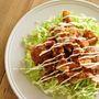 粗切り生しょうがの甘辛豚肉サラダ