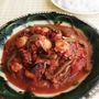 チリパウダーでお手軽にメキシコ風♪たこのチリトマト煮
