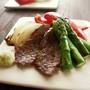 ちょこっと居酒屋風♪焼き野菜とひとくち牛肉の塩わさび添え
