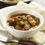 さっぱり酸味の、サンバル風ひよこ豆と野菜のスープカレー