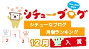 シチューなブログ 月間ランキング受賞!
