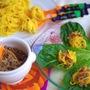 かぼちゃサラダスパとカレー挽肉のレタス巻き