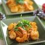 魚介と春菊の蟹トマトクリームスパゲティ