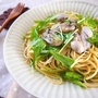 牡蠣と水菜のまろやかペペロンチーニ