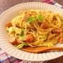 カルボナーラ風カレークリームスパゲティ
